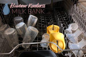 Breast pump parts in dishwasher